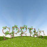 Spring in tree letters Stock Image