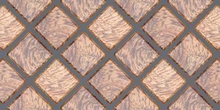 3D rendering of square wall panels, Material veneer wood oak for your project or interior design decorative tile. High quality seamless realistic texture vector illustration