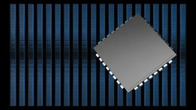 128,64,32,16,8 stack IC with black blackground Royalty Free Stock Images