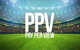 Stadium pay per view. 3d rendering stadium with pay per view text Stock Photos