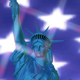 3D Rendering of the Statue of Liberty Royalty Free Stock Image
