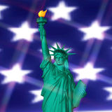 3D Rendering of the Statue of Liberty Royalty Free Stock Images