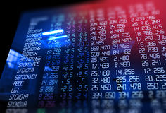 3d rendering of  stock exchange display panel Royalty Free Stock Photos