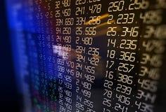 3d rendering of  stock exchange display panel Stock Photos