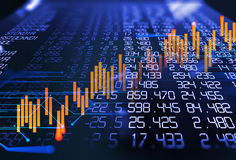 3d rendering of  stock exchange display panel Stock Images