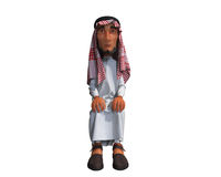 3d rendering of a stylized middle eastern man. Stock Photos