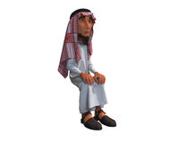 3d rendering of a stylized middle eastern man. Royalty Free Stock Photography