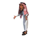 3d rendering of a stylized middle eastern man. Royalty Free Stock Images
