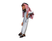 3d rendering of a stylized middle eastern man. Royalty Free Stock Image