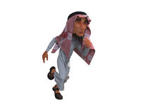 3d rendering of a stylized middle eastern man. vector illustration