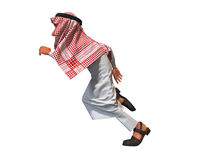 3d rendering of a stylized middle eastern man. Stock Image