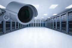 Server room security Royalty Free Stock Photography