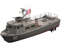 3d Rendering of a Swift Patrol Boat Royalty Free Stock Image