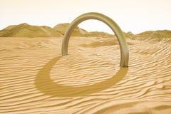 3d rendering szeroka pustynia z lampasami, kszta?tuje royalty ilustracja