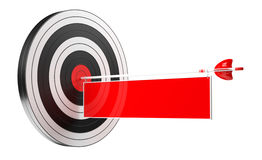3D rendering target black white and red target with arrows. On white background Royalty Free Stock Images