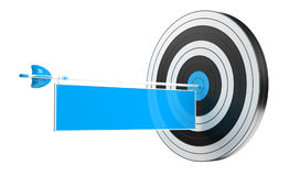 3D rendering target black white and red target with arrows. 3D rendering target black white and blue target with arrows on white background Royalty Free Stock Photo