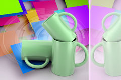 3d rendering tea cup Stock Images
