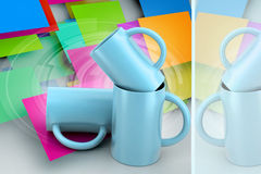 3d rendering tea cup Royalty Free Stock Photos
