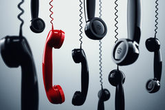 3D rendering telephone handset Royalty Free Stock Image