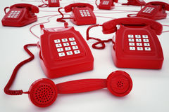 3D rendering telephone Royalty Free Stock Image