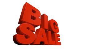 3D rendering of text big sale. Isolated on white background Royalty Free Stock Photography