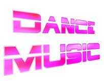3D rendering. Text disco music on white background. Close-up stock illustration