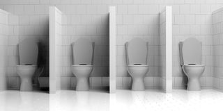 3d rendering toilet bowl. 3d rendering white toilet bowl Royalty Free Stock Image