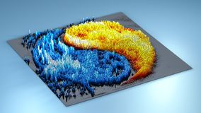 3d rendering topography with cubes.  Royalty Free Stock Images