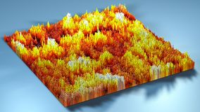 3d rendering topography with cubes.  Stock Photos
