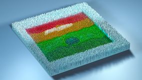3d rendering topography with cubes.  Stock Images