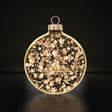 3D rendering transparent Christmas ball Royalty Free Stock Photo