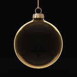 3D rendering transparent Christmas ball Royalty Free Stock Image