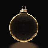 3D rendering transparent Christmas ball Stock Photo