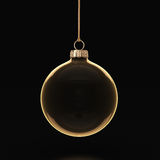 3D rendering transparent Christmas ball Stock Photos