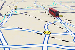 3D rendering of transport itinerary Royalty Free Stock Photography