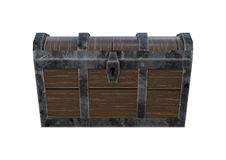 3D Rendering Treasure Chest on White Royalty Free Stock Photography