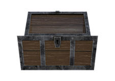 3D Rendering Treasure Chest on White Stock Photography