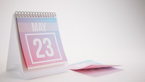 3D Rendering Trendy Colors Calendar - may 23. 3D Rendering Trendy Colors Calendar on White Background - may 23 Royalty Free Stock Image