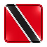 Trinidad and Tobago flag icon Stock Photography