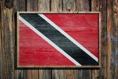 Wooden Trinidad and Tobago flag Royalty Free Stock Image