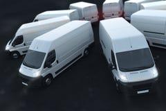 3D Rendering truck fleet stock illustration