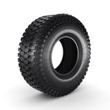 3D rendering truck tire. On a white background Royalty Free Stock Photography