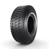 3D rendering truck tire. On a white background Stock Photos