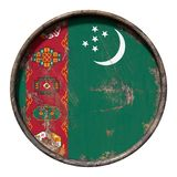 Old Turkmenistan flag Royalty Free Stock Photography