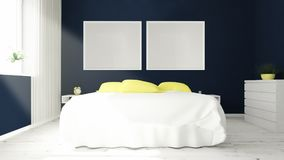 two frames on a bedroom Royalty Free Stock Image