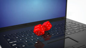 3D rendering of  two red dices Royalty Free Stock Photography