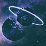 3D rendering tworzenie planety W Głębokiej przestrzeni ilustracji