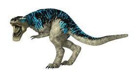 3D Rendering Tyrannosaurus Rex on White Stock Photo