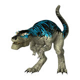 3D Rendering Tyrannosaurus Rex on White Stock Image