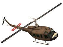 3d Rendering of a UH-1 Iroquis Huey Stock Photo